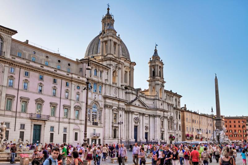 Palazzo Pamphili and the Piazza Navona