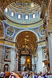 St. Peter's Baldachin beneath the Central Dome of St. Peter's Basilica
