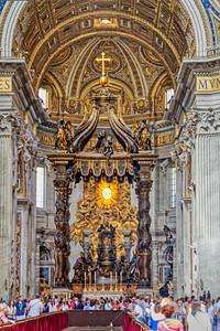 St. Peter's Baldachin by Gian Lorenzo Bernini