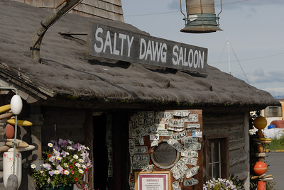 A closer look at the Salty Dawg.  You can see the dollar bills posted to the door.  www.saltydawgsaloon.com