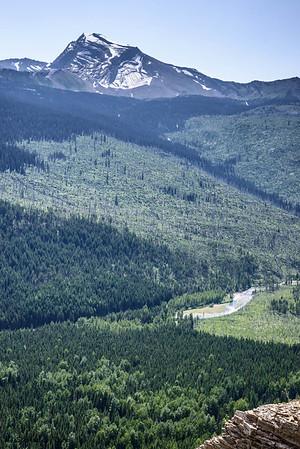 Heavens Peak  & McDonald Creek Below