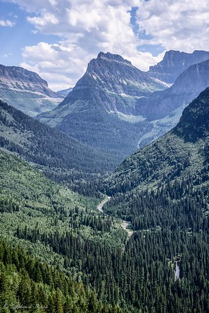 Garden Wall Divide, Mount Oberlin, Bird Woman Falls & Mount Cannon (l to r)