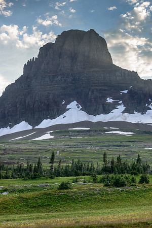 Last Rays Casting Across East Face of Clements Mountain at Sunset
