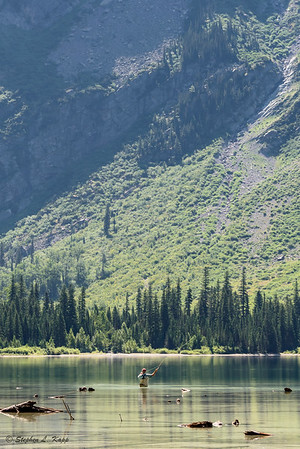 Fly Fisherman at Avalanche Lake_Crop-1