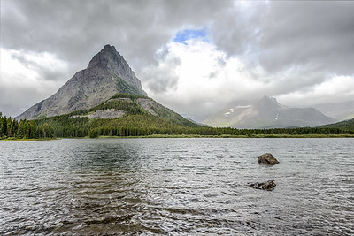 Swiftcurrent Lake and Grinnell Point (Mount Wilber on Right)