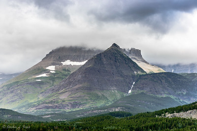 Mount Wilber with Summit Shrouded in Clouds