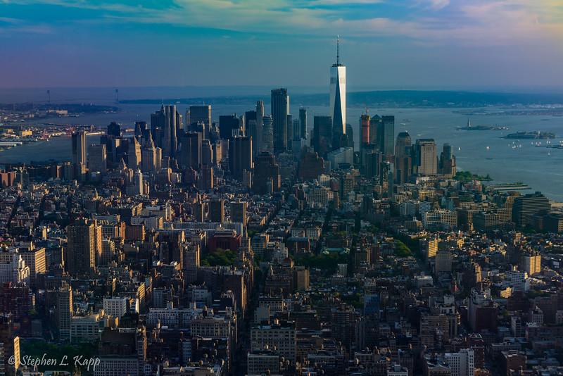 Manhattan Borough & One World Trade Center Building