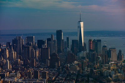 Manhattan Borough & One World Trade Center Building