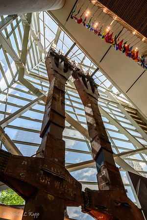 Pair of North Tower Trident Steel Columns - Inside the Oculus