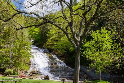Couple Enjoyng Buttermilk Falls