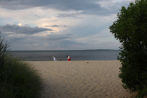 Fuller Street Beach with Chappaquiddick in the distance.