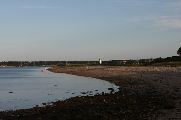 Fuller Street Beach, with Edgartown Lighthouse in the distance.