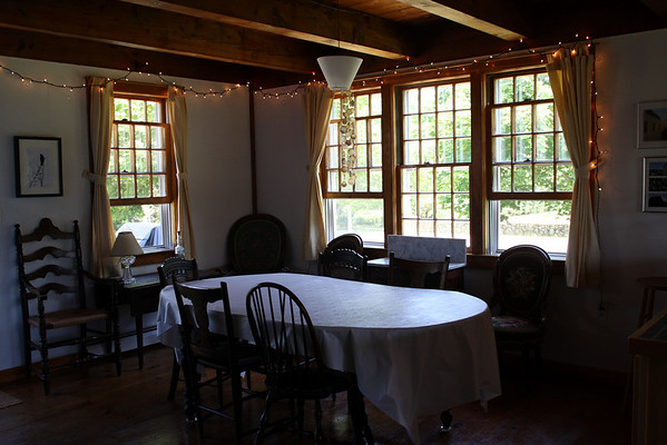 Dining room, seats eight.