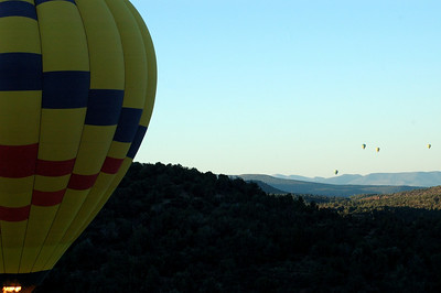 Just after take off we caught a glimpse of four other balloons about 2 miles in the distance.