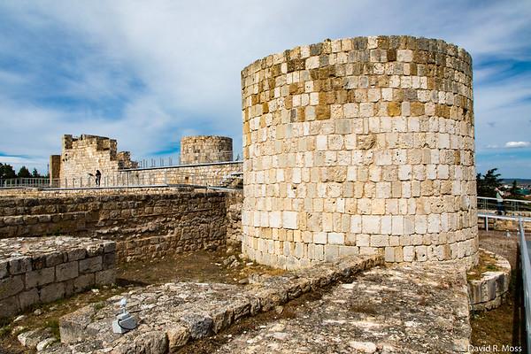 Burgos, castle walls.