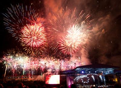 Independence Day Fireworks Riverfront Park Downtown Nashville