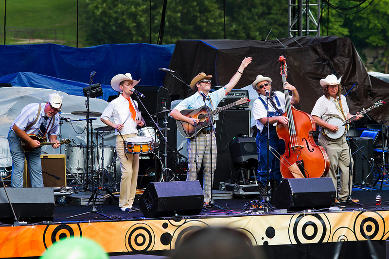 The Cleverlys<br /> As you will note, there are five members of the band, but that doesn't stop them from introducing themselves as the Cleverly Trio.  These guys are a riot as they parody hip-hop songs done in a bluegrass style.