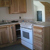 Kitchenette, with front room in background.