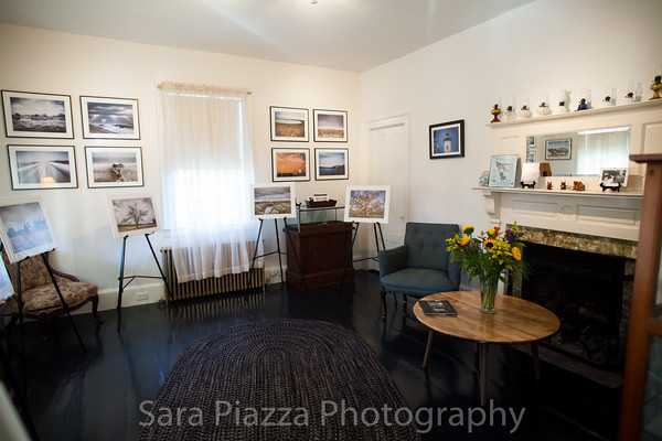 My photo gallery. During the off-season, the gallery is perfect for house concerts and music sessions around the fire place.