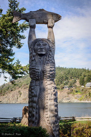 Samish Indian Story Pole
