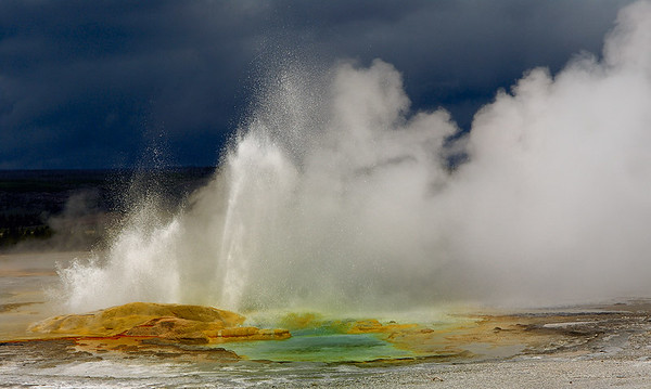 Yellowstone, Geyser Basin and Storm Clouds, 2006