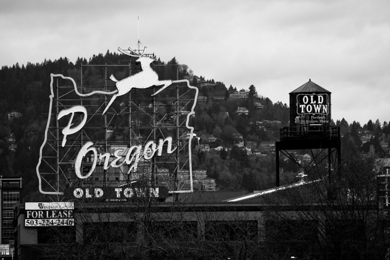 The Made in Oregon neon sign is going through some transition