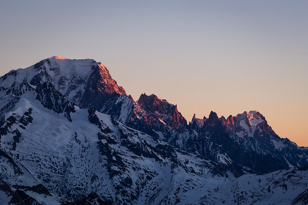 Sunrise on Mont Blanc  / France
