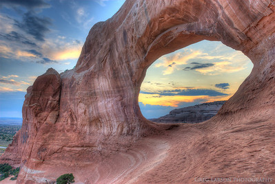 Wilson's Arch, near Moab, Utah.  HDR (High Dynamic Range) composite.