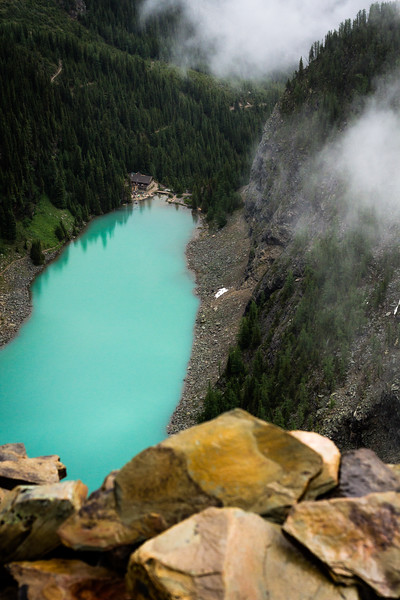 Mini Agnes - a birdseye view of the famous Lake Agnes and it's teahouse