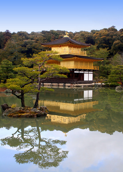 Kinkaku-ji (Golden temple)<br /> Kyoto, Japan