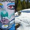 Mother/Nature<br /> James Haunt mural painted on the side of an abandonded railroad tunnel on Donner Summit in Truckee, CA. 2014
