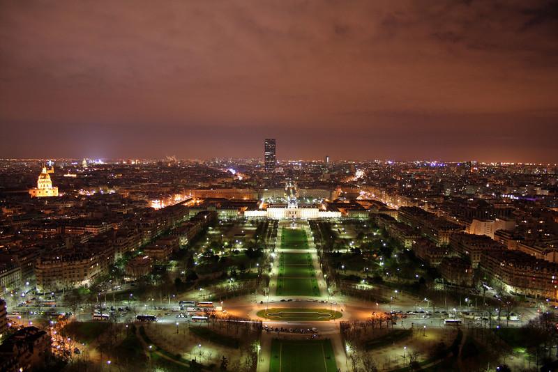 Night views of Paris, France