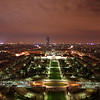 Night views of Paris, France