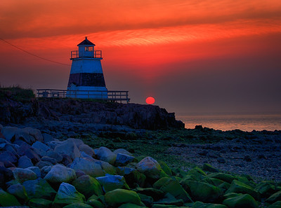 Margaretsville Lighthouse at Sunset