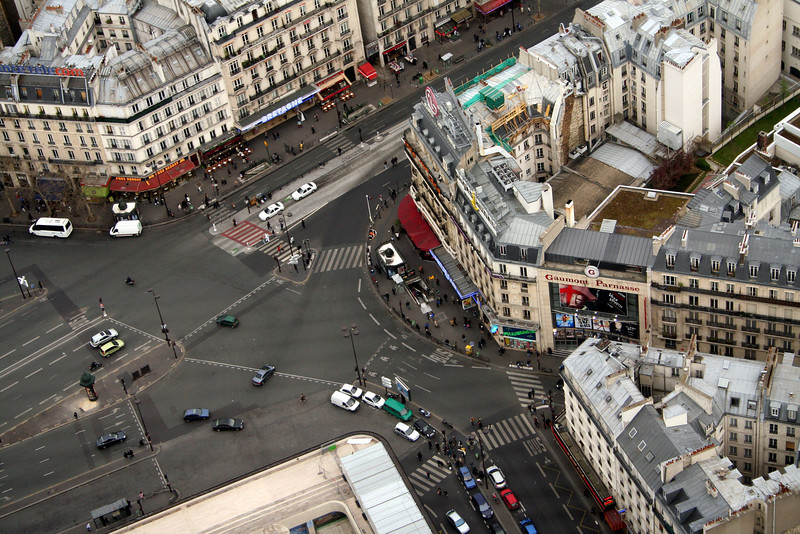 Aerial views of Paris, France
