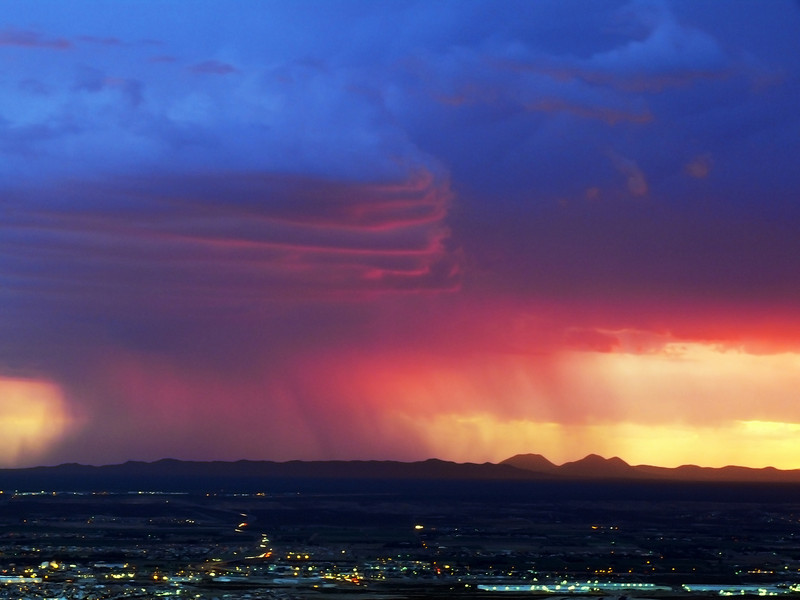 Thunderstorm over El Paso's Upper Valley