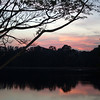 Sunset over a lake, Bangalore, India