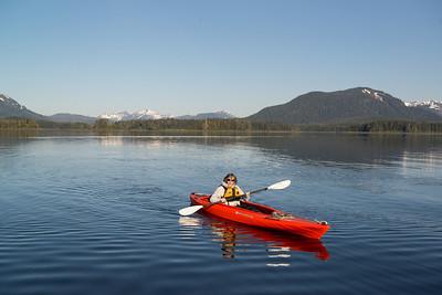 Kayak in Gambier Bay, Alaska