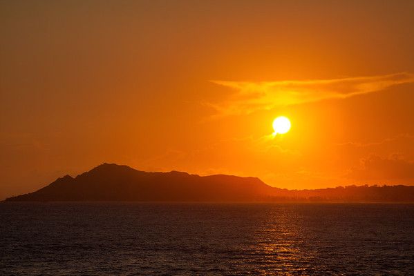 Sunset Over Diamond Head