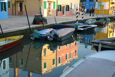 Burano, Italy Burano is a 30 minute vaporetto ride from Venice