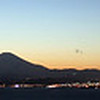 Panorama of Enoshima at dusk<br /> Japan