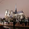 Notre Dame de Paris at night<br /> France