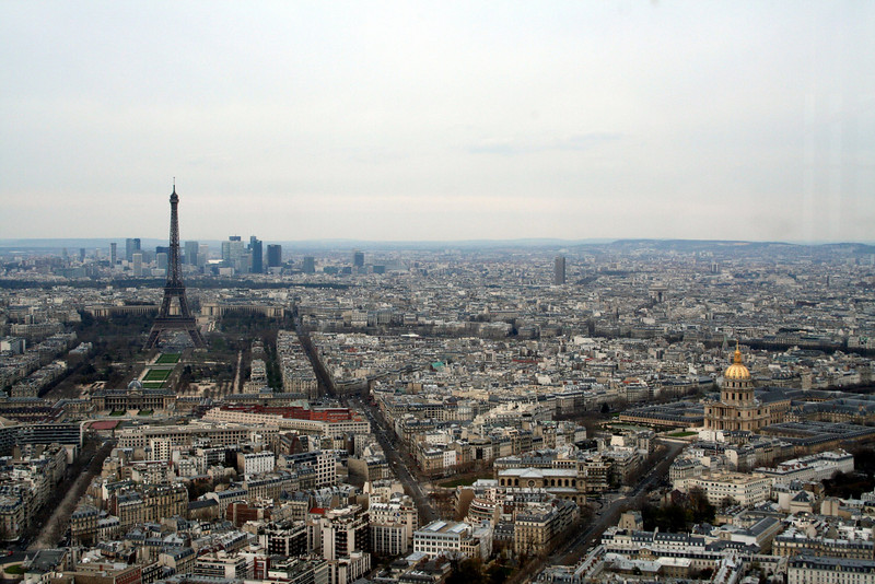 Aerial views of Paris, France