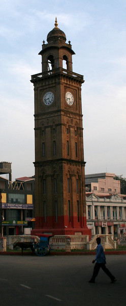 (Leaning) clocktower of Mysore<br /> Mysore, India