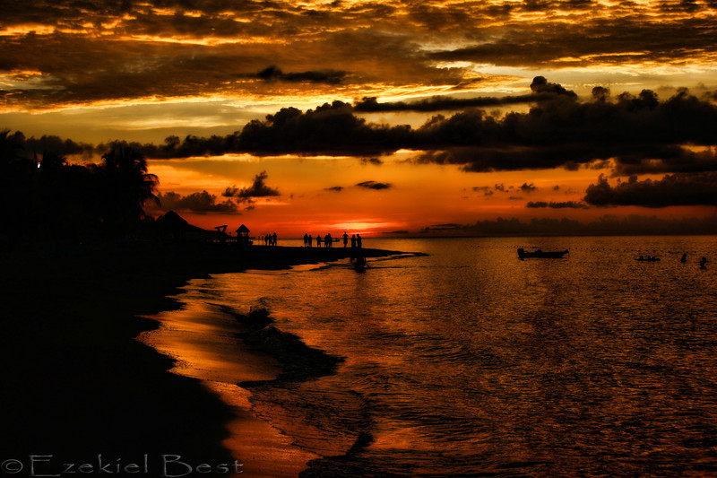 A beautiful Jamaican sunset.....