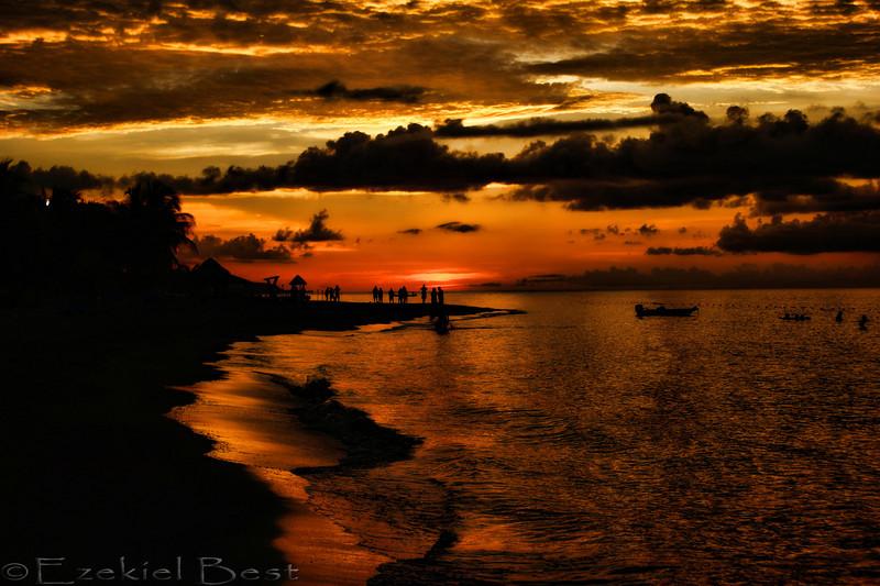A beautiful Jamaican sunset.....