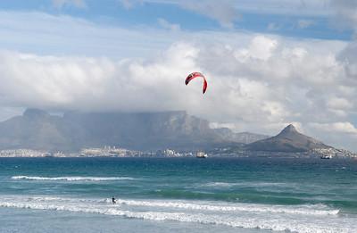 Kite Surfer, Bloubergstrand