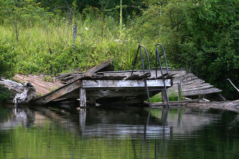 Abandoned swim platform. Pine Ridge, NC