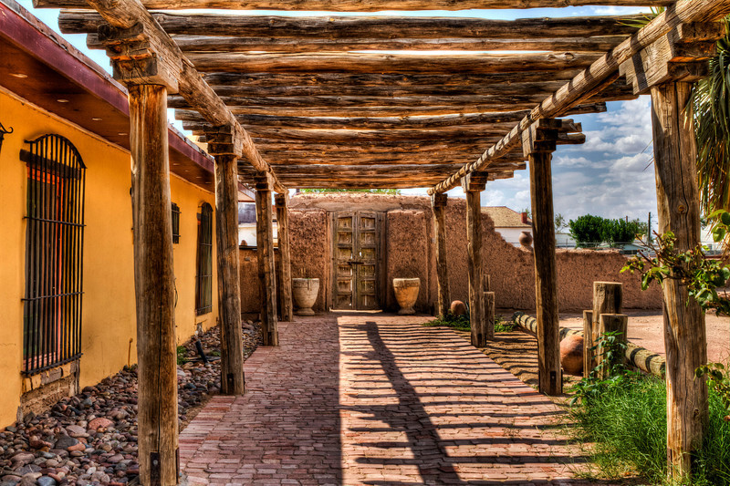 San Elizario Hacienda<br /> Located just behind the San Elizario Chapel on the El Paso Mission Trail, it is believed that this hacienda, constructed in 1840, once served as a stop on the Butterfield-Overland Stage line during the 1850s. The building now serves as a private residence.