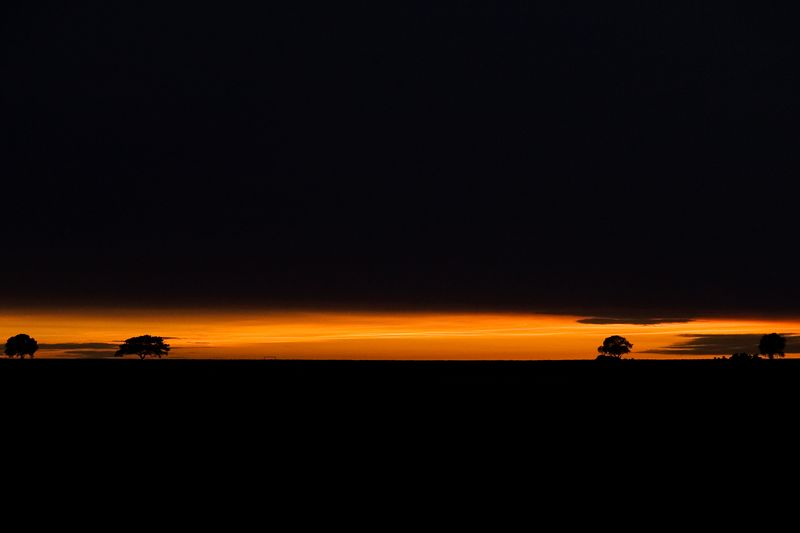 Late sunset over Beverley Westwood. The entire horizon was illuminated like this. Taken on the 8th of June, 2005. A panormaic crop is available.